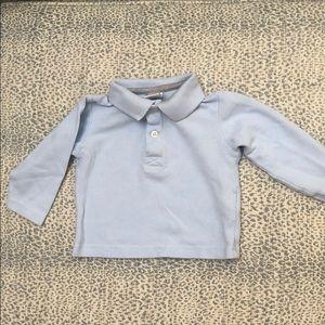 Baby Zara light blue collared shirt